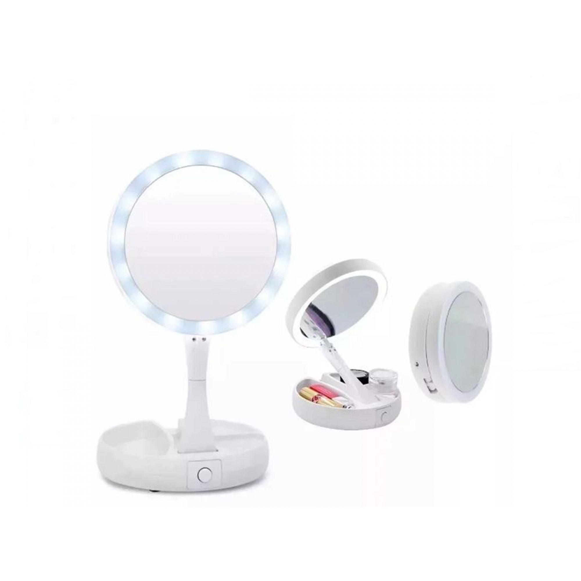 Espelho Com Led E Porta Maquiagem My Fold Away Mirror