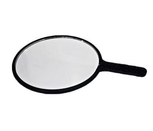 Espelho Oval de Plástico Preto
