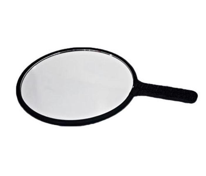 Espelho Redondo Oval de Plástico Portátil Preto