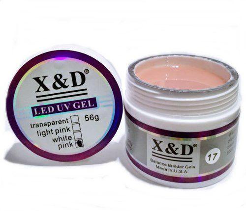 Gel Nude 017 Led Uv X&D 56gr Para Unhas Gel e Acrigel