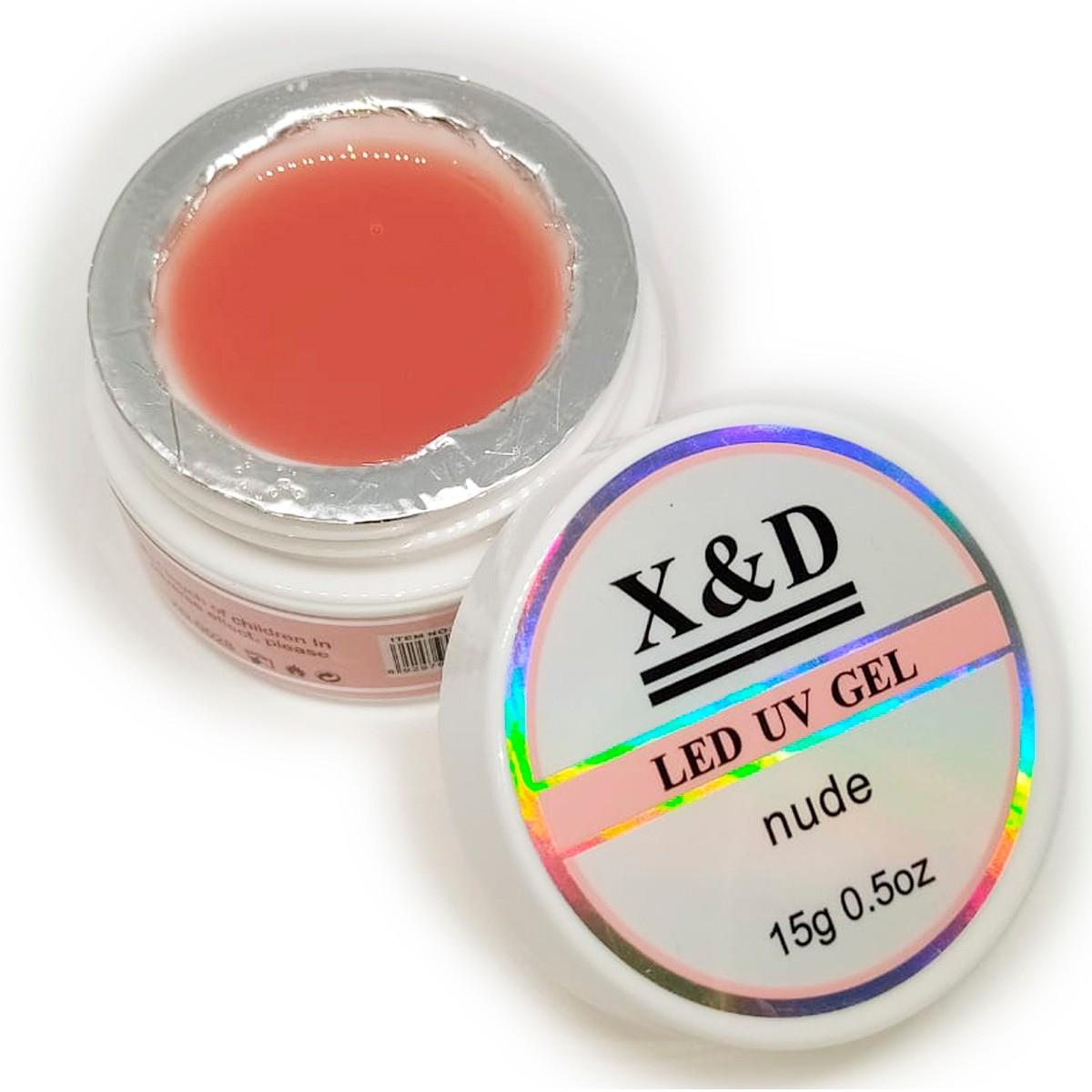 Gel Nude Led Uv X&D 15gr X & D Para Unhas Gel e Acrigel X E D