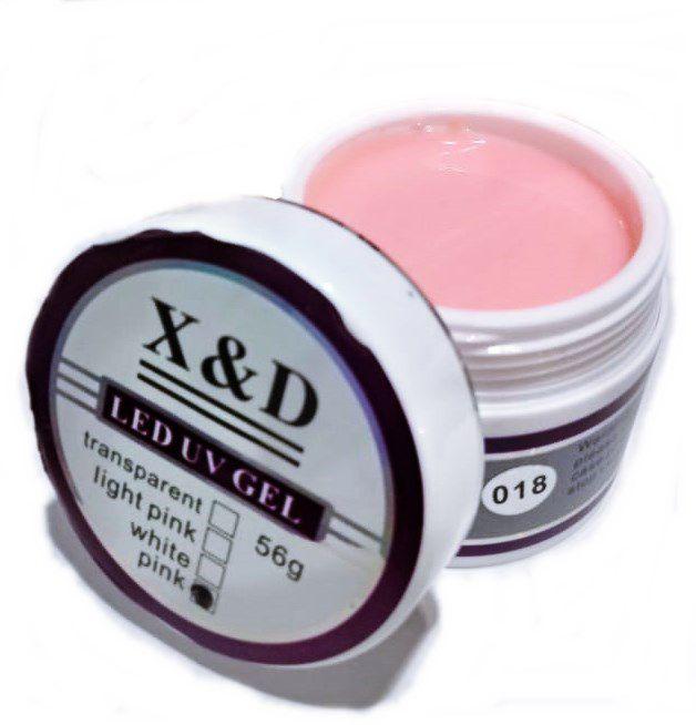 Gel Pink 018 X&D 56gr Para Unhas Gel e Acrigel