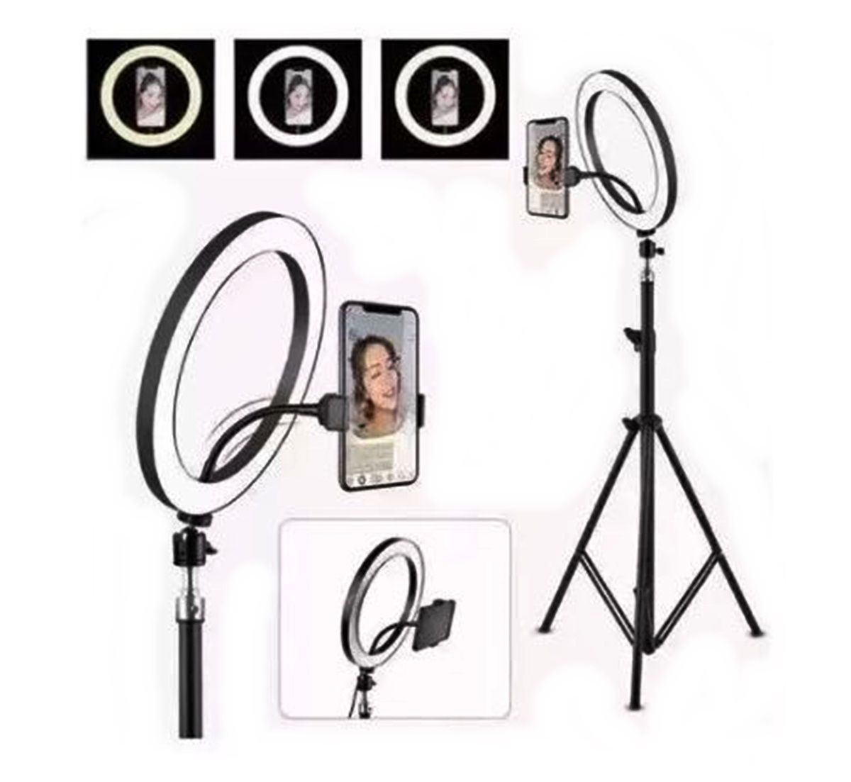 Iluminador Ring Light Youtuber 10 Polegadas 26cm Led Com Tripé