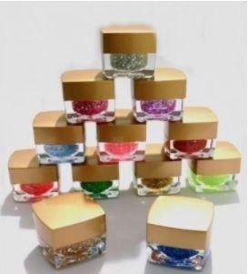 Kit 12 Gel Led Uv Para Unha Gel Com Glitter