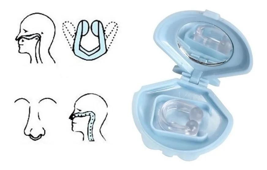 kit 2 Clips Dilatador Nasal Flexível Anti-ronco Nose Snore