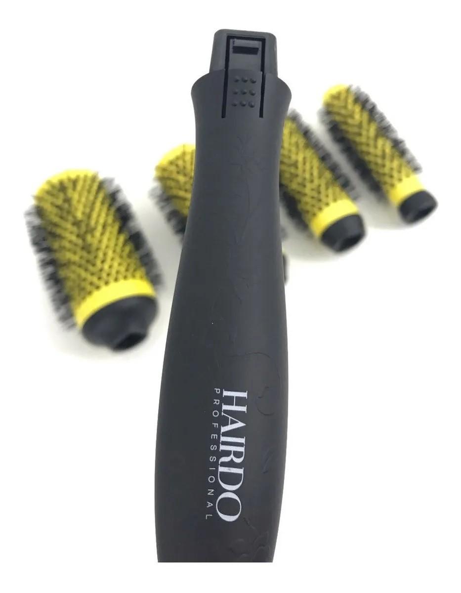 Kit 4 Escovas Cabo Removível Hairdo Nano Technology Ceramic