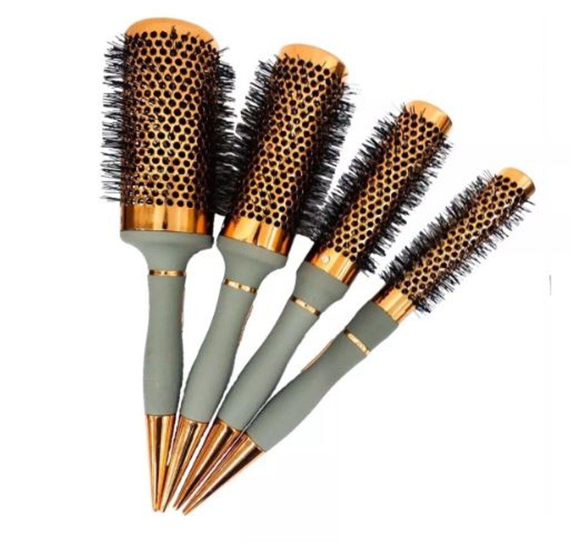 Kit 4 Escovas Vazada Térmica Cerâmica Hairdo Cabeleireiro Profissionais