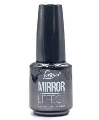 Kit 9 Esmaltes Cromado Mirror Effect Efeito Gel Love Yes