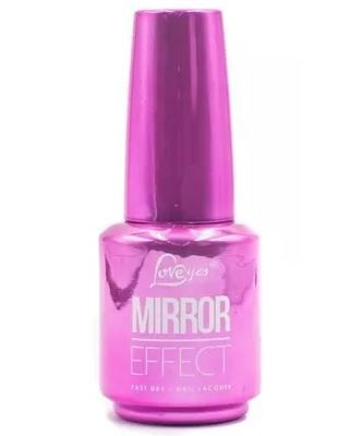Kit 9 Esmaltes Cromado Mirror Effect Efeito Gel Love Yes