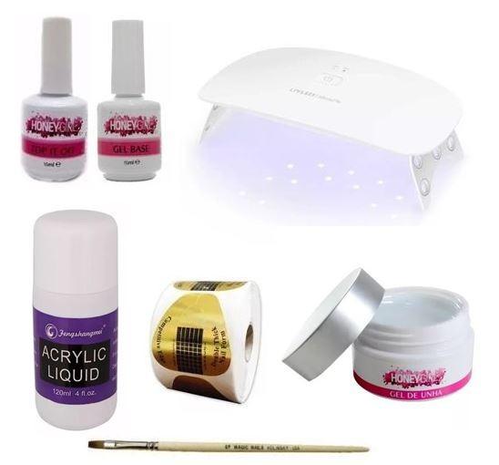 Kit Alongamento De Unha Básico Unha Em Gel Honey Girl