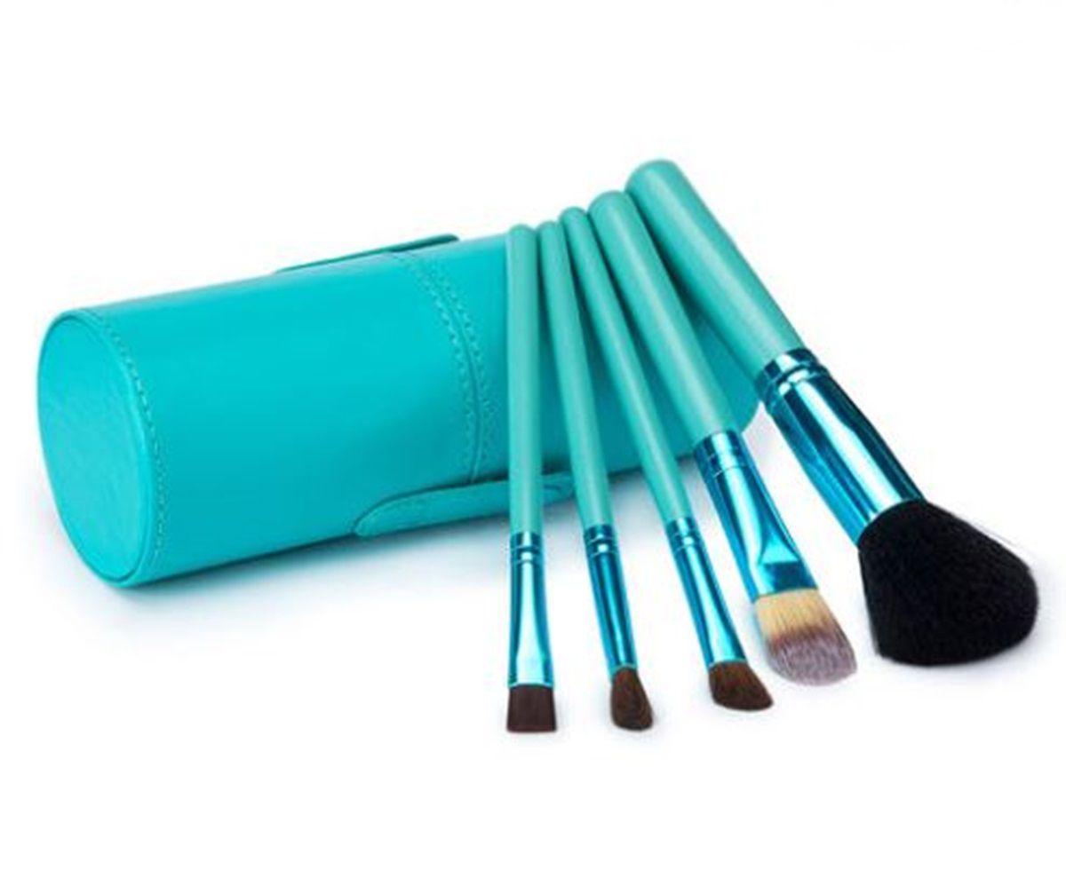 Kit Com 12 Pincéis Pincel + Case Copo Excelente Qualidade Azul