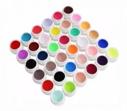 Kit Com 36 Gel Colorido Ezflow Para Decoração De Unhas