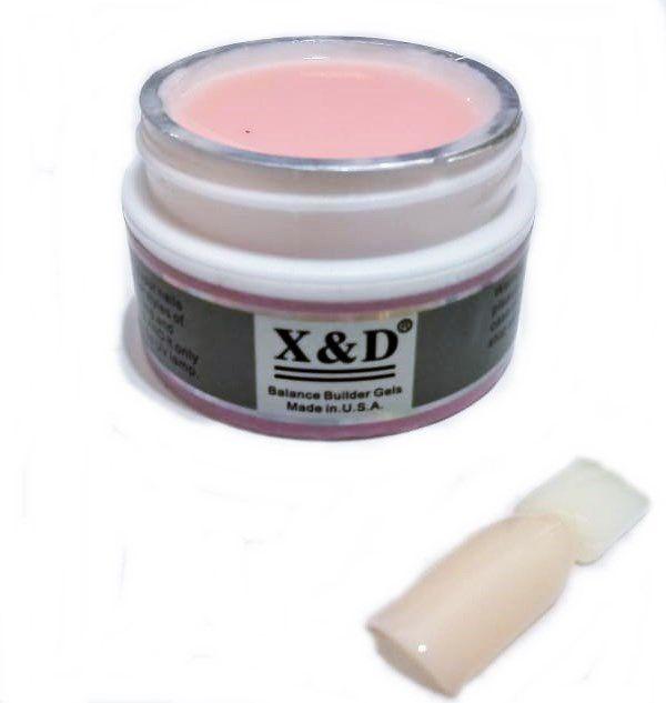 Kit Unha Gel Top Coat 15ml + Primer 15ml + Gel Pink Light Led Uv 15gr X&D