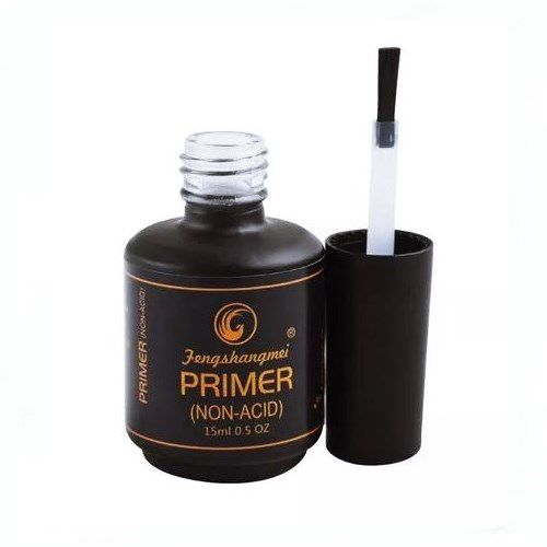 Kit Unha Gel Top Coat Selante Led Uv 15ml + Primer Sem Ácido 15ml Fengshanmei