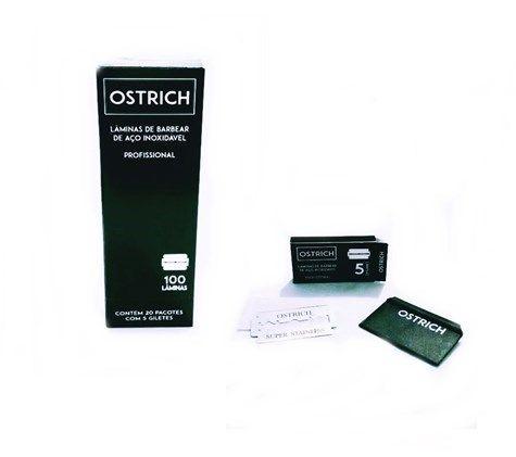 Lâmina De Barbear Ostrich Caixa c/ 100 Unidades
