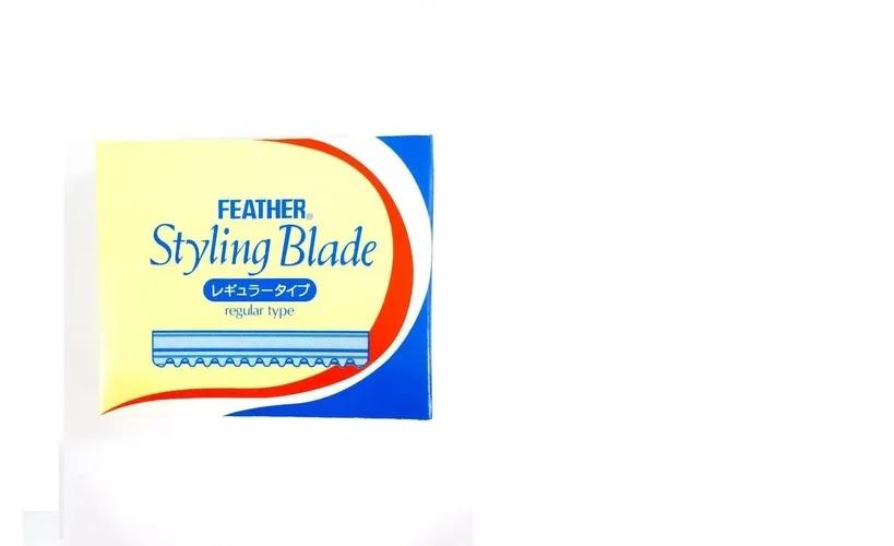 Lâmina Feather De Desfiar Para Navalhete Navalha Com 10
