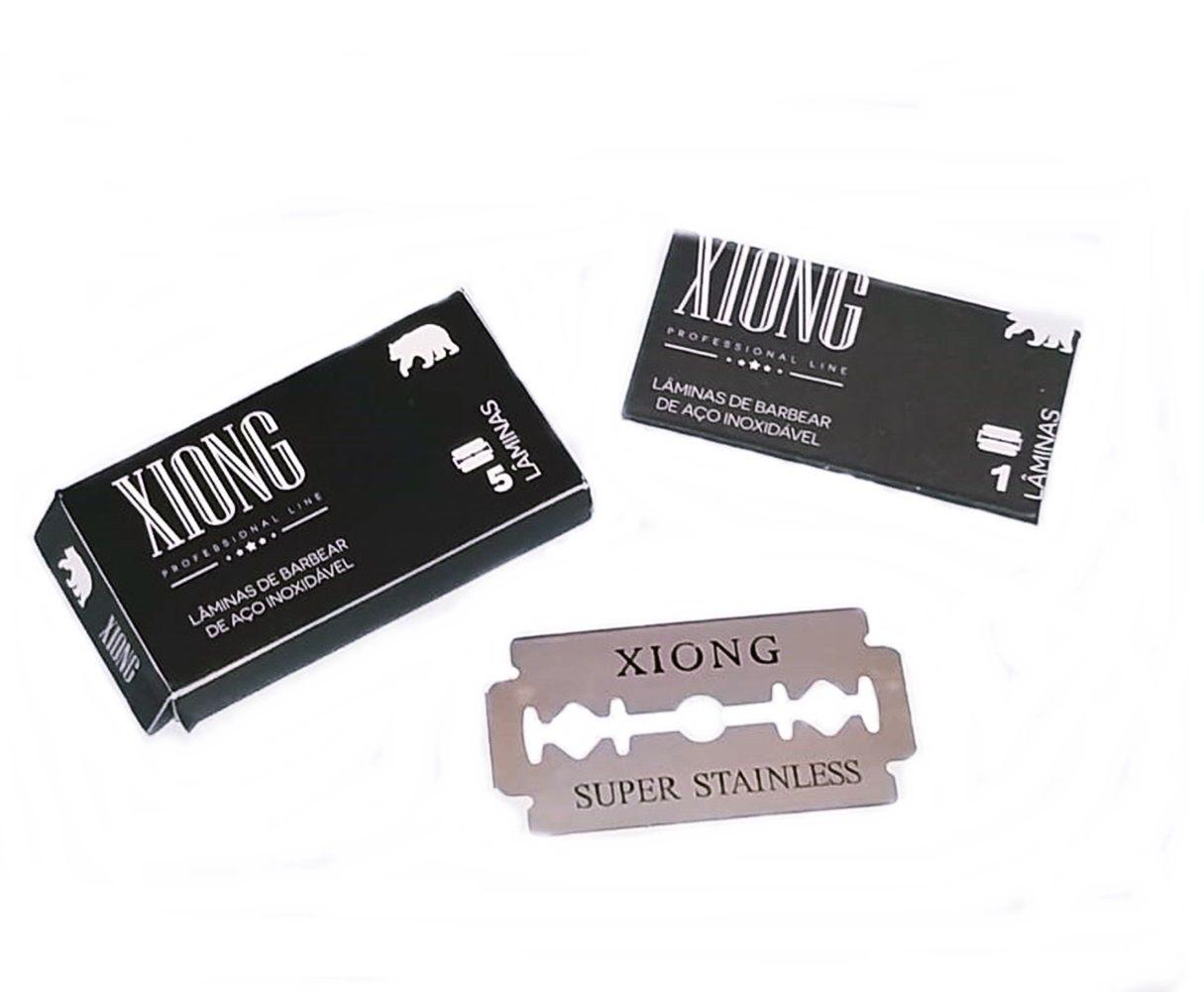 Lâmina Para Barbear Profissional Xiong Caixa Com 100 Unidades