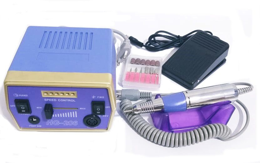 Lixa Elétrica HG-206 Para Unhas Profissional 30.000 Rpm 110v