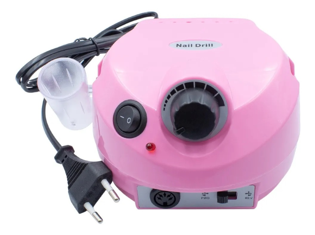 Lixadeira Motor Elétrica Unha Profissional Nail Drill Rosa 30000 220v