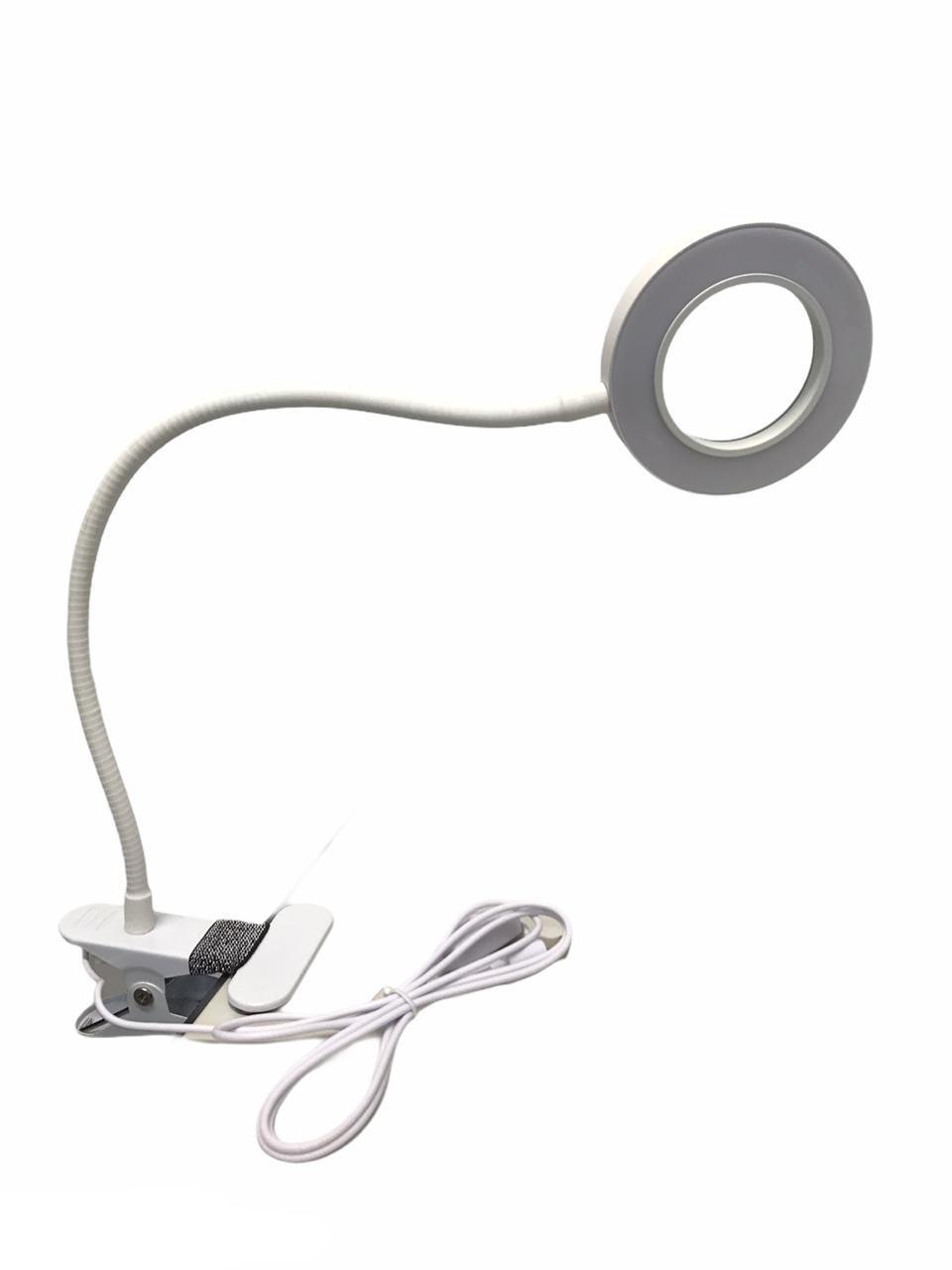 Lupa Aumento Luminária Articulada Leds Estética M013 Branca