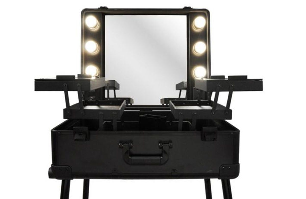 Maleta Camarim Maquiagem Profissional Com Rodinhas Preta