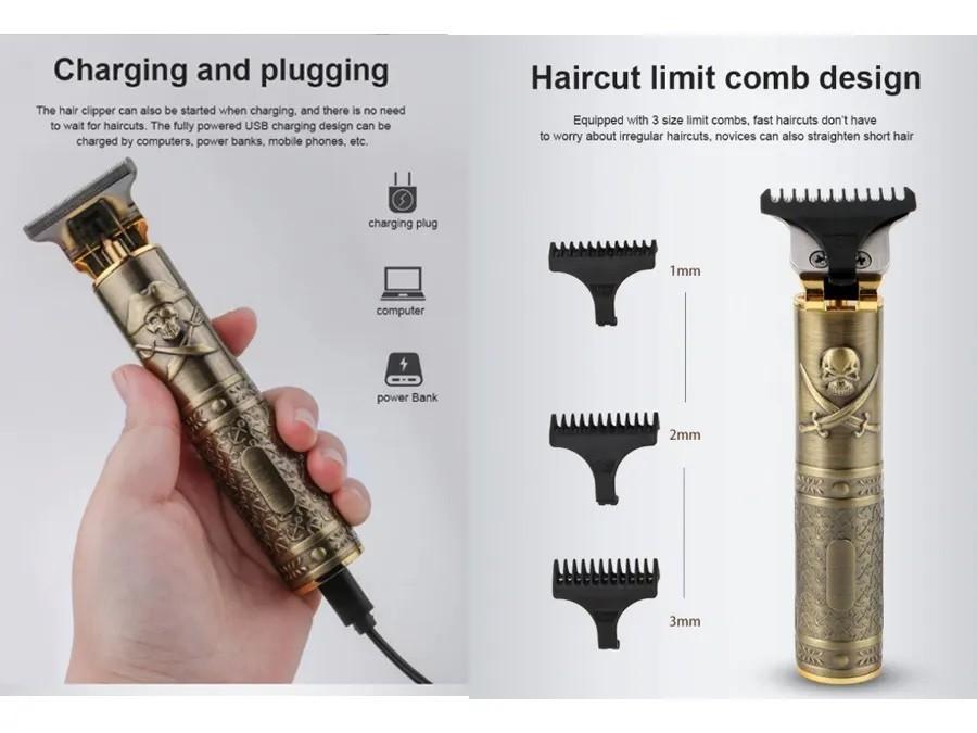 Maquina De Acabamento Trimmer Para Cabelo E Barba Bivolt Hairstar KM-203