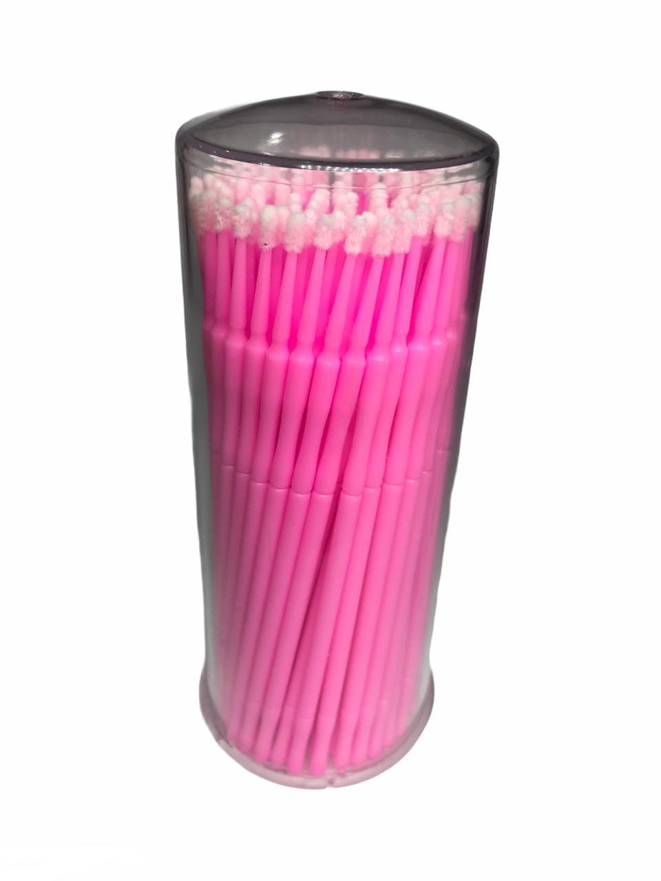 Microbrush Cotonete Para Alongamento De Cílios 100 Unidade Rosa