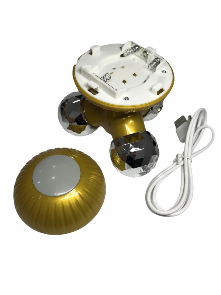 Mini Massageador Vibratório Elétrico Usb Portátil Cogumelo Dourado