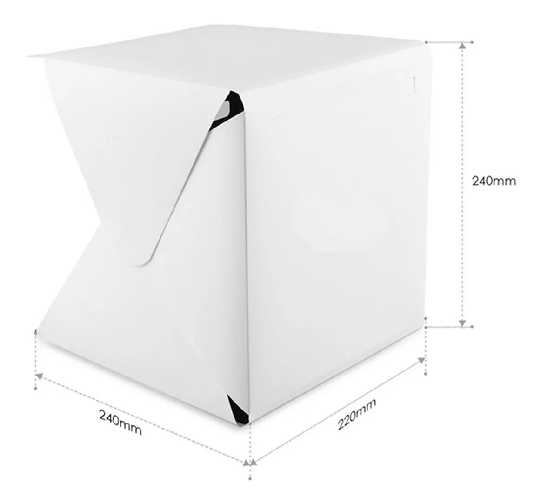 Mini Studio Estúdio Fotográfico Fotografia Tenda Box Com Led