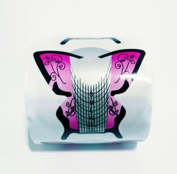 Moldes Adesivos Borboleta Para Unha De Porcelana E Gel c/ 300 un