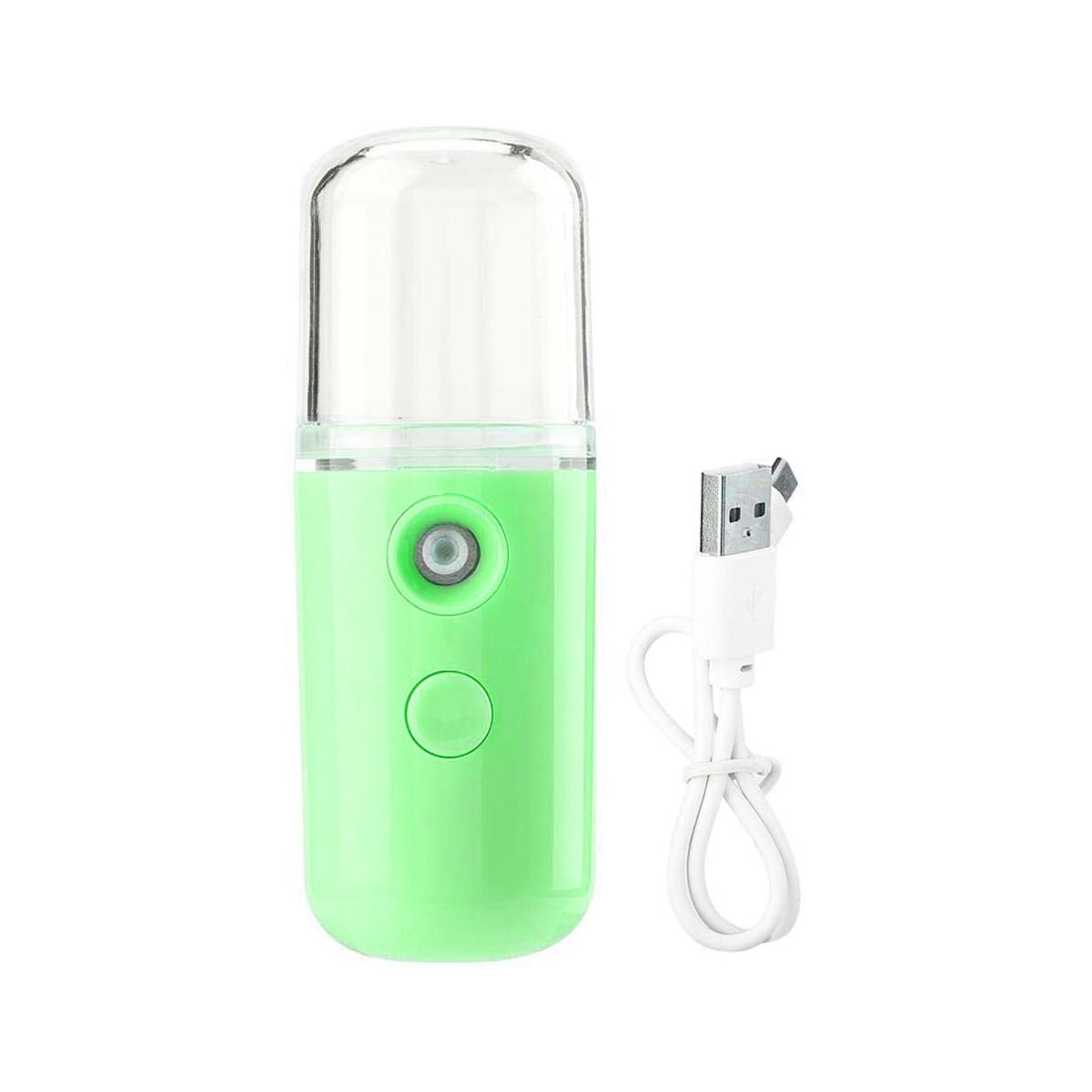Nano Mister Spray Vaporizador Facial E Cilios Usb Verde