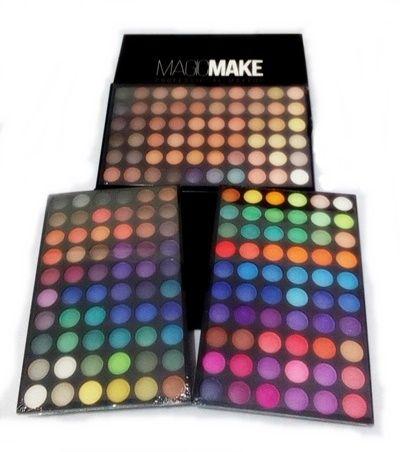 Paleta Maquiagem Profissional com 180 Sombras Foscas e Brilhantes