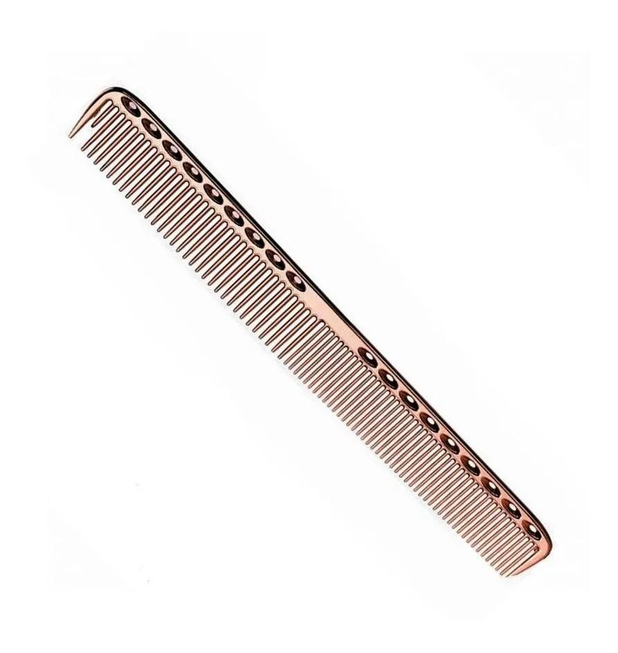 Pente De Corte Metal Alumínio Para Barbeiro 21,5 Cm Rose Gold
