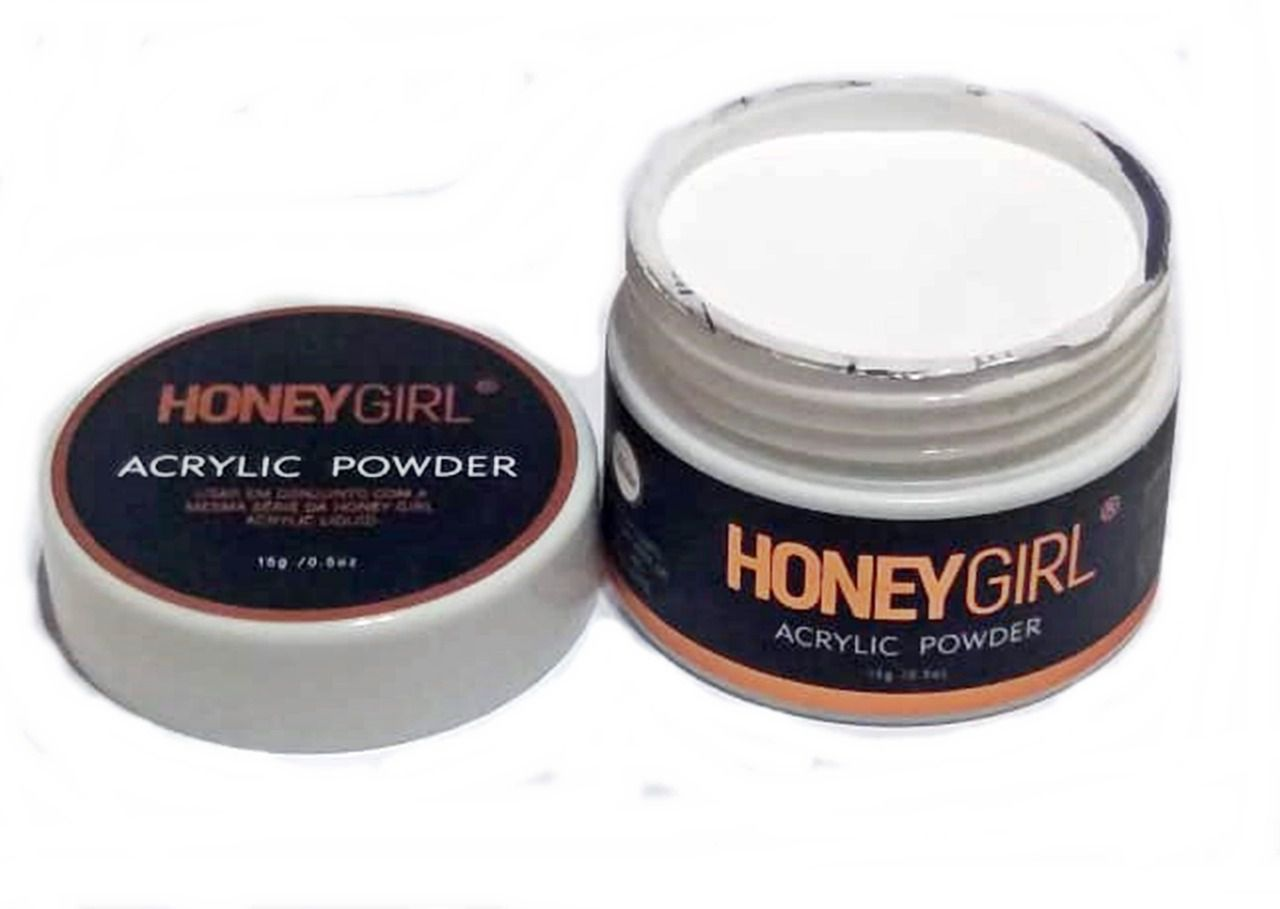 Pó Acrílico Acrylic Powder Branco White Para Unha Acrílica Honey Girl 15gr