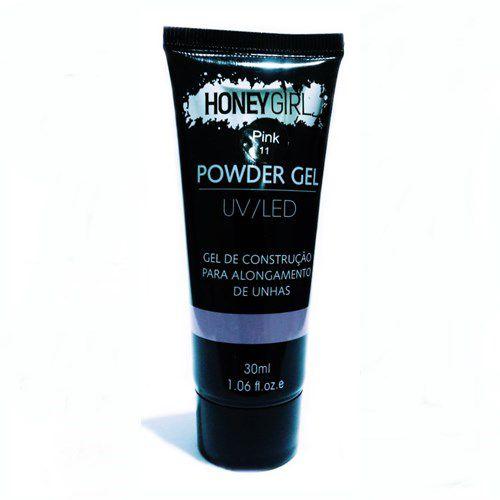 Polygel Pink 11 Honey Girl Powder Gel Led Uv Alongamento Unhas 30ml