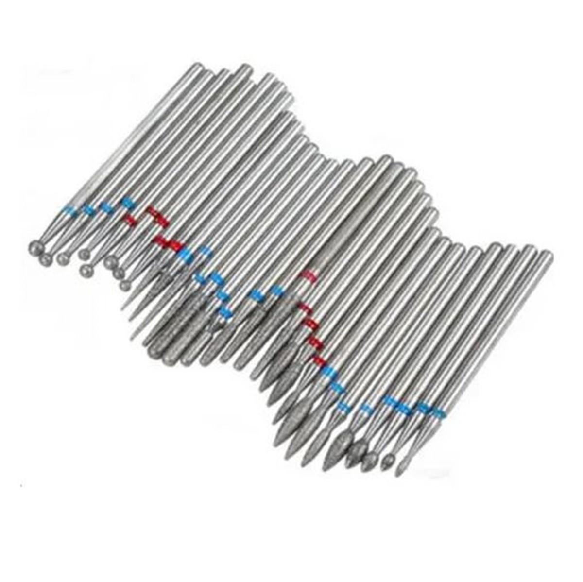 Refil Broca Diamantada Para Lixadeira De Unha C/ 30 Unidades