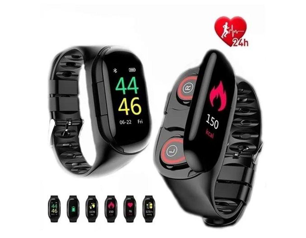 Relógio Smartwatch Fone Bluetooth M1 7 Em 1 Monitor Cardíaco Pressão Original