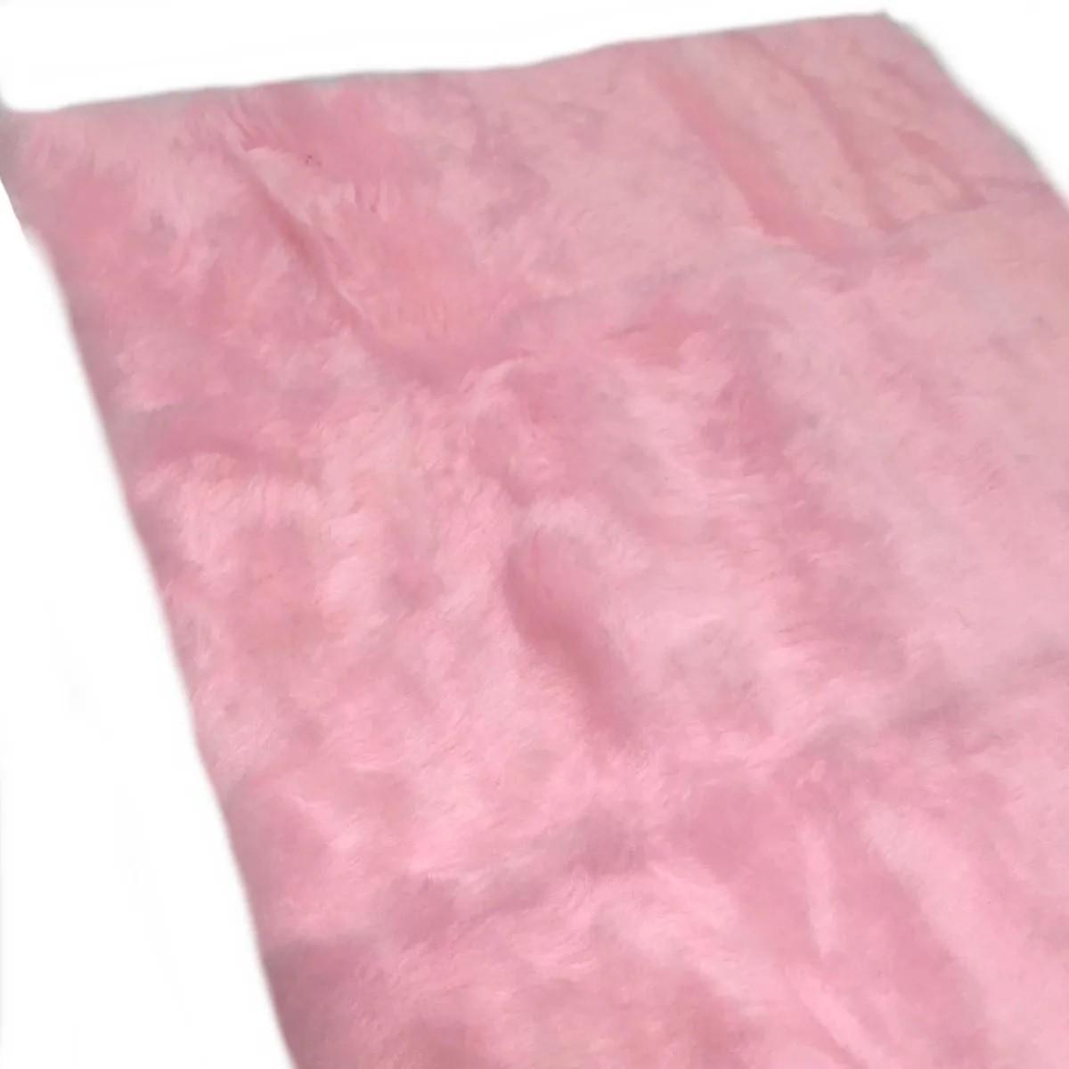 Tapete Pelúcia Fotos Para Unhas Manicure Alongamento Rosa Claro