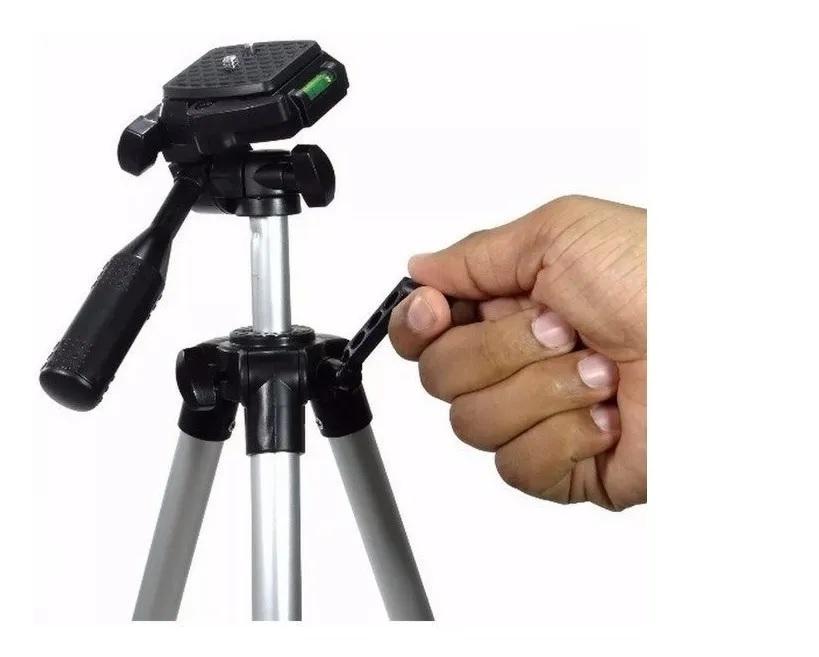 Tripé Retrátil Câmera Suporte Celular E Bolsa