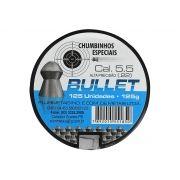 Chumbinho Bullet 5.5 mm c/ 125 Unidades - Plurimetais