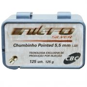 Chumbinho Nitro Silver Pointed 5.5 mm c/ 125 Unidades - CBC