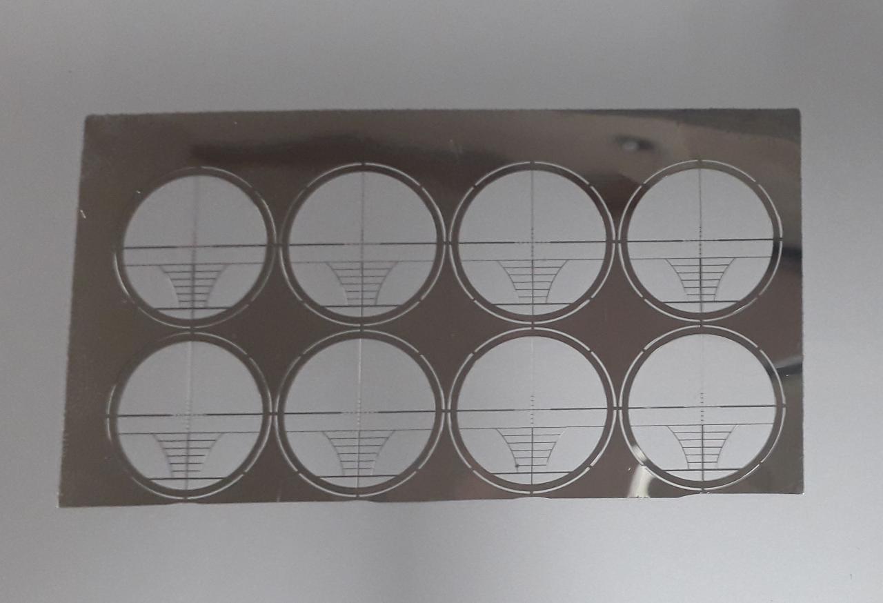 Cartela de Retículos Convencionais para Lunetas c/ 8 Unidades