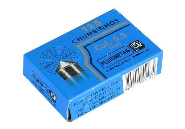 Chumbinho 5.5 mm c/ 125 Unidades - Plurimetais