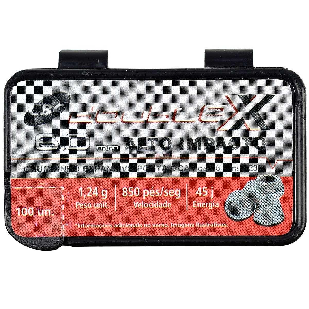 Chumbinho Double X de Alto Impacto 6,0 mm c/ 100 Unidades - CBC