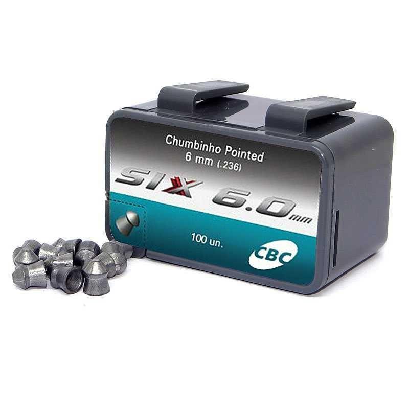 Chumbinho Six 6,0 mm c/ 100 Unidades - CBC