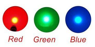 Lanterna p/ Caça Noturna c/ LED Verde, Vermelho e Azul