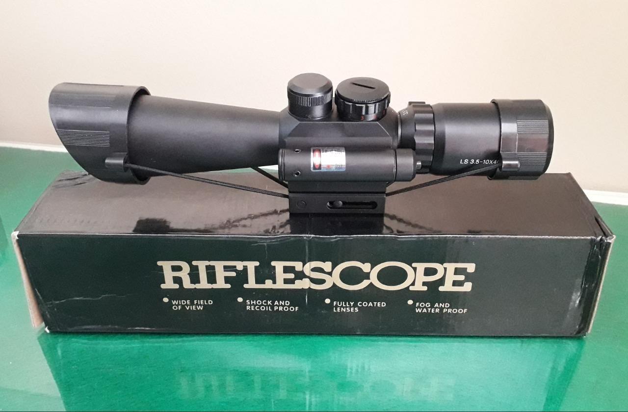 Luneta Riflescope 3,5-10x40 c/ Laser Lateral