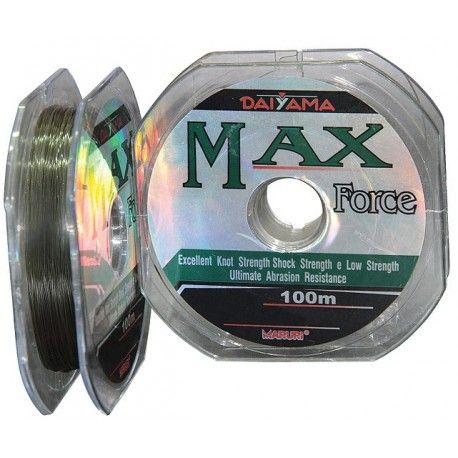 Monofilamento de Nylon Max Force 28 lbs / 0,37 mm / 100 m - Maruri
