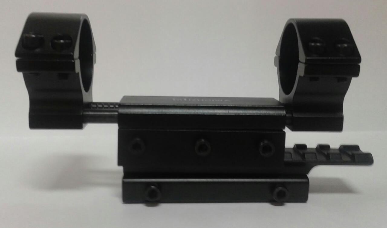 Mount de Absorção de Impacto p/ Trilho de 11 mm - Tubo de 25 mm e 30 mm