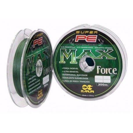 Multifilamento de Nylon Max Force Super PE 67 lbs / 0,35 mm / 100 m - Maruri